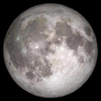 High definition image of a full moon close up