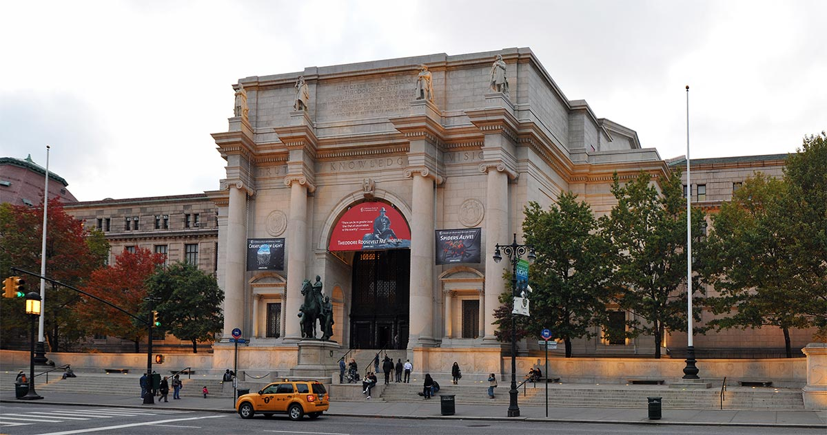 The main entrance to the American Museum of Natural History