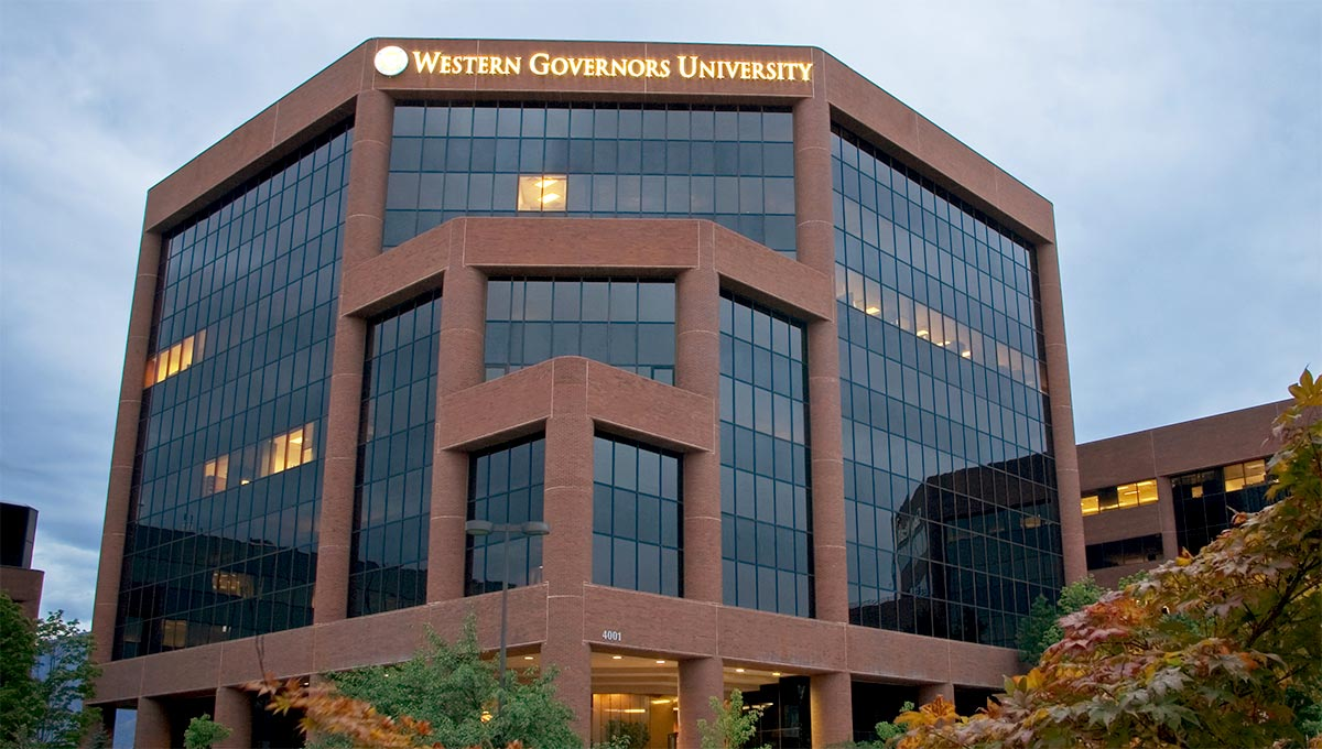 A photograph of the Western Governors University headquarters