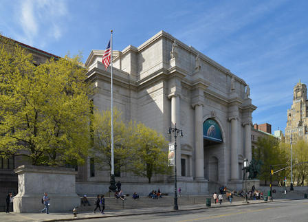 Exterior of he Museum seen from Central Park West.