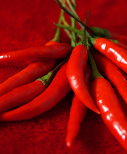 Chili peppers, now used in cuisines across the world, originated in the Americas. Courtesy of Flickr/User Peter.Lorre