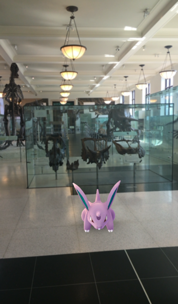 Nidorina in Fossil Hall