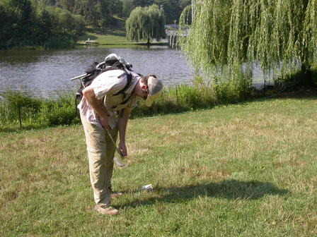 Dr. Noah Fierer's search for microbes in Central Park took him from forests to lake shores. © N. Fierer