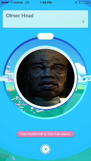 Olmec Head Pokestop
