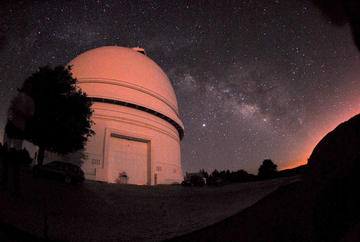 Palomar 200 inch Dome at Night
