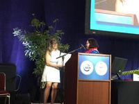 Eleanor receiving the CEESP award at the 2016 IUCN World Conservation Congress