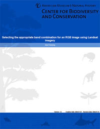 Selecting the appropriate band combination for an RGB image using Landsat imagery