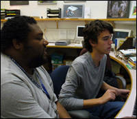 Center for Biodiversity and Conservation Specialist Michael Foster with CBC Diversity Initiative Intern Seamus Boyle
