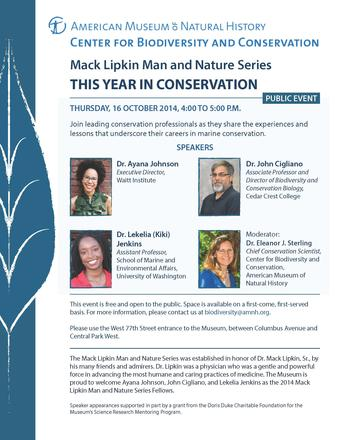 Mac Lipkin Man and Nature Series Panel Discussion 2014