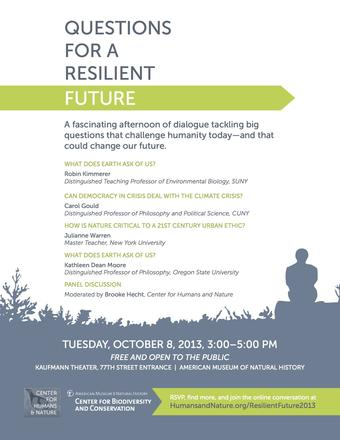Questions for a Resilient Future 2013 Flyer