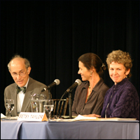Three panelists at the first Living With Nature program