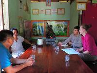 Dr. Mary Blair interviews a community member about wildlife trade in Central Vietnam.  Photo by Mary Blair