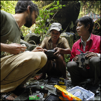 Spring 2008 training session for camera trapping in Central Vietnam. Jeremy Holden