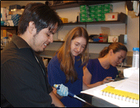 Genetic analysis and student training at the Sackler Institute for Comparative Genomics. Eugenia Naro-Maciel