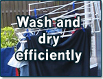Wash and dry efficiently