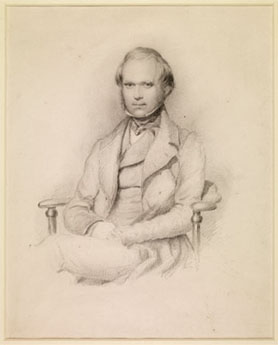 Charles Darwin by George Richmond, pencil 1839 Cambridge University Library