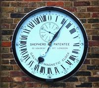 Shepherd gate clock at the Royal Observatory, Greenwich, UK. Image: Joaquim Alves Gaspar