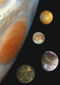 Jupiter and its Moons Composite
