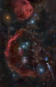 Orion Region with Nebulae