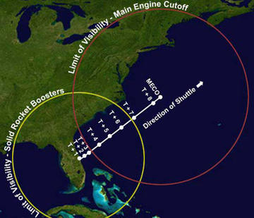 Space Shuttle Viewing Eastern Seaboard