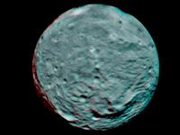 Vesta South Pole in 3-D