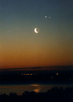 Venus, Moon, Jupiter Photo 1998