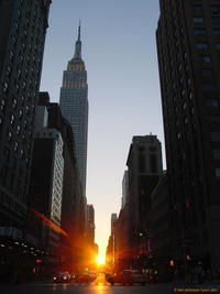Manhattanhenge on 34th Street