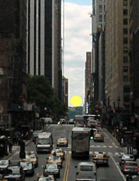 Manhattanhenge: Full Sun Mock-up
