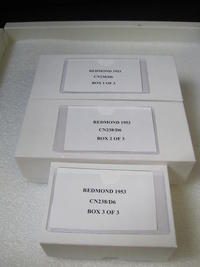 Custom boxes for storing slides horizontally at the AMNH
