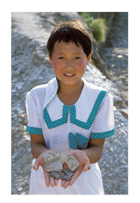Chinese Girl with Fossils