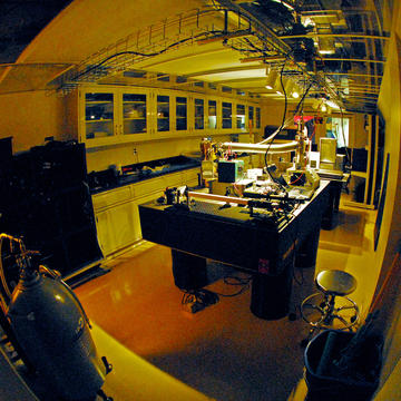 The astrophysics instrumentation lab clean room on the sixth floor of the Rose Center. Rebecca Oppenheimer