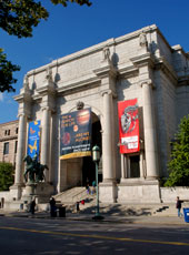 The front ediface of the American Museum of Natural History.