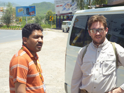 Lorenzo Prendini (right) recently traveled to Pakistan to train local scientists. Photo courtesy of H. Tahir