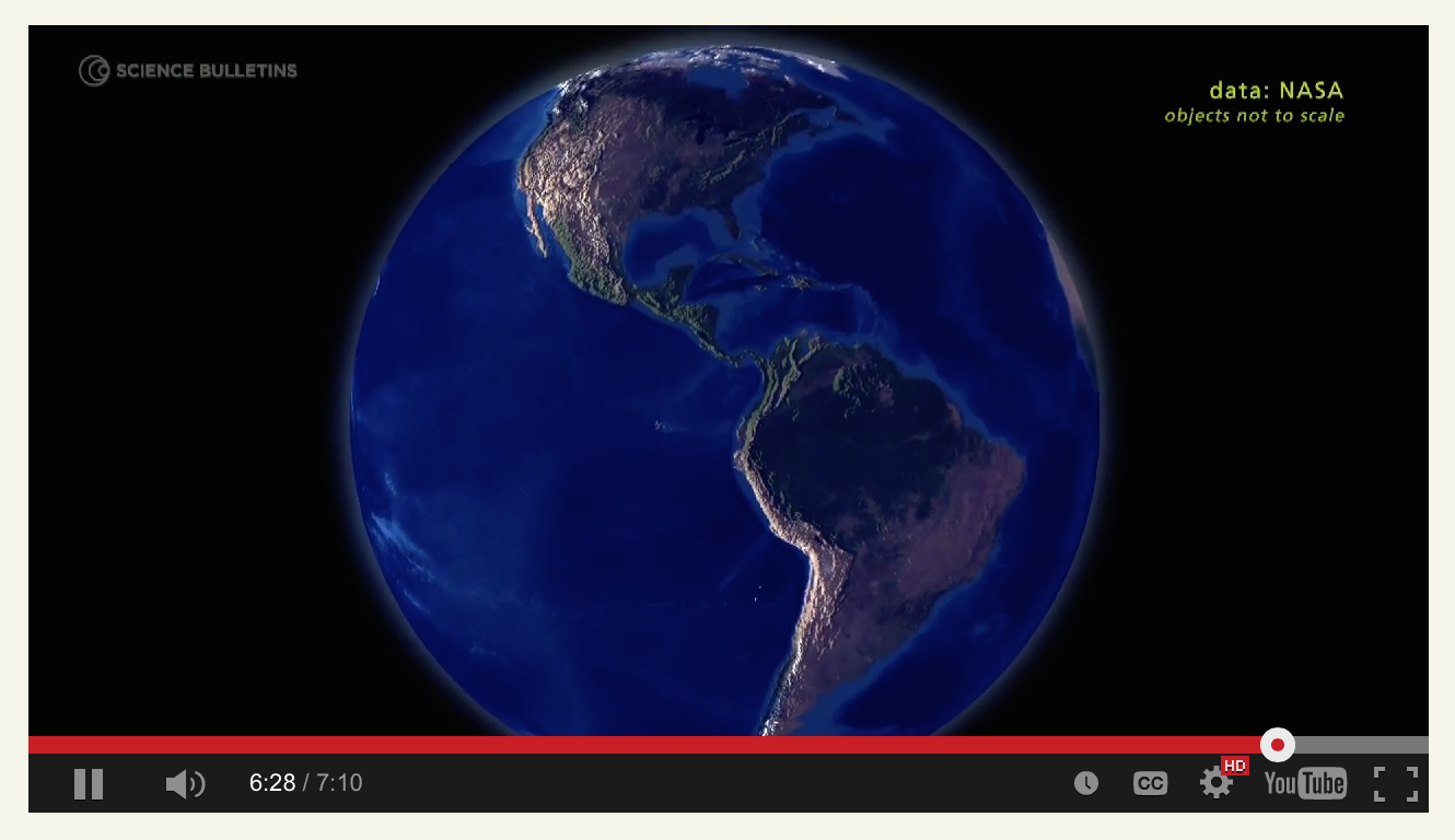 A video still frame of Earth as seen from space