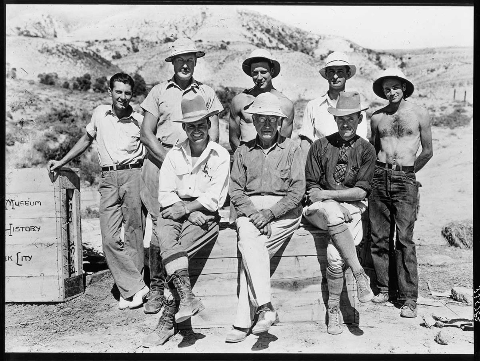 Barnum Brown and his field crew.