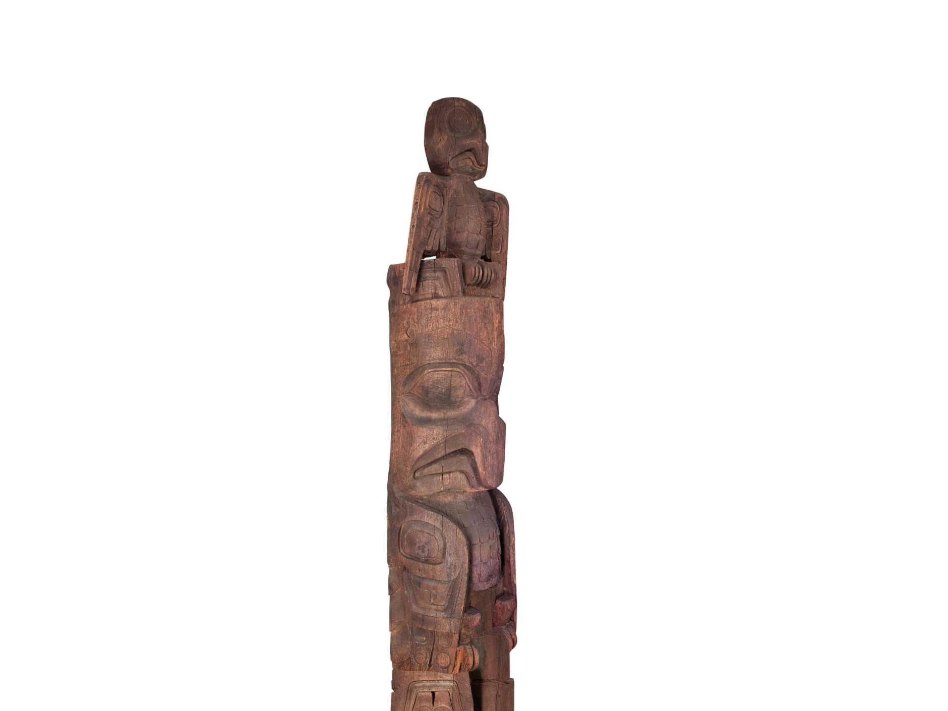 Eagle and bear totem by haida artist gryn white