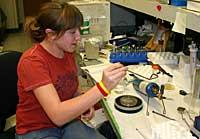 Allison at work in the lab