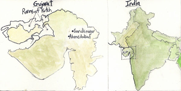 Map 1: India and Gujarat