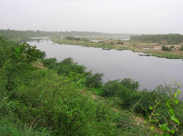 Fig. 1: The Sabarmati River after the rains