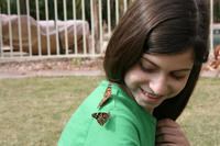 Katelyn with some butterfly friends