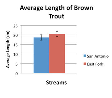 There is no significant difference between the length of brown trout in the two streams.
