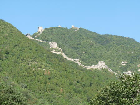 The Great Wall at Badaling, about 40 miles north of Beijing. © J. Tseng