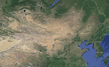 This map shows Mongolia, China, and Inner Mongolia Autonomous Region. Imagery ©2014 TerraMetrics, Map data ©2014 AutoNavi, Google, SK planet, ZENRIN