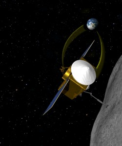OSIRIS-REx will use a robotic arm to pluck samples from a near-Earth asteroid. The mission, called Origins-Spectral Interpretation-Resource Identification-Security-Regolith Explorer (OSIRIS-REx), will be the first U.S. mission to carry samples from an asteroid back to Earth.  Image: © NASA.