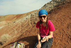 Shaena Montanari, a graduate student in the Museum's Richard Gilder Graduate School, has carried out fieldwork in Mongolia's Gobi Desert. Photo courtesy of Shaena Montanari.