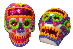 Sample some king cake for the chance to win an authentic Mexican sugar skull. Photo courtesy DK2 Studio.