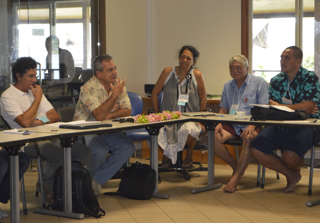 Participant discussion at the CBC's workshop on biocultural indicators in Tahiti, 2015
