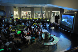 The Museum kicked off the Beyond Planet Earth Video Contest on Tuesday, October 4, with a space-themed event held in partnership with Vimeo.  © AMNH/C. Chesek